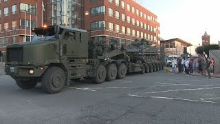 British Army Convoy | depart from 'Meet the Forces Day' at Cardiff Bay