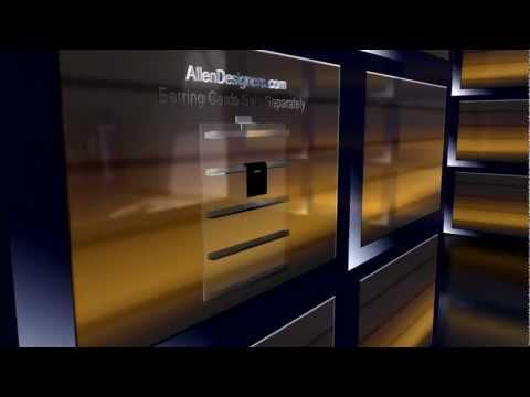 Slatwall Acrylic Earring Card Display.avi