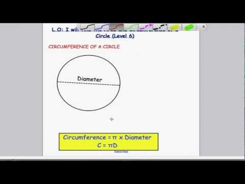 Area and Circumference of a Circle (Level 6)