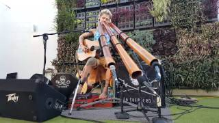 FINGERS Mitchell Cullen Didge It Whaleshark Festival Tour WA 2015 Bills Bar  Coral Bay