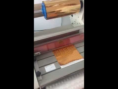 How to foil with a laser digital printer and laminator
