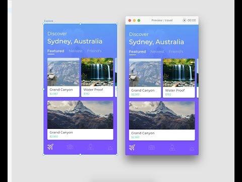 Adobe XD Tutorial - Travel App UI Design