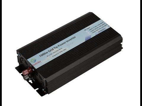 1000W Solinba Grid Tie Inverter Review solar setup