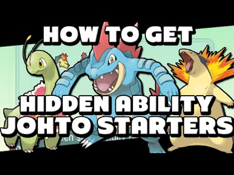 How to Get Hidden Ability Feraligatr Typhlosion and Meganium in ORAS and X&Y! - Pokebank Event