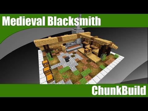 ChunkBuild 17: Minecraft MEDIEVAL BLACKSMITH | Minecraft Medieval Rural Theme 2 (Minecraft 1.12)