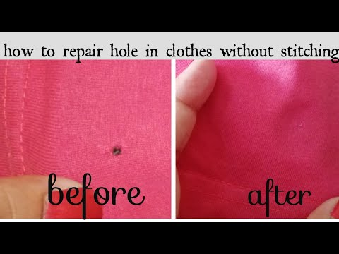 How To Repair Holes In Clothes (Hindi)