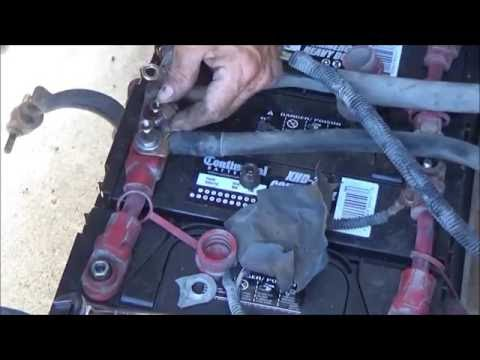 How to test and change big truck batteries