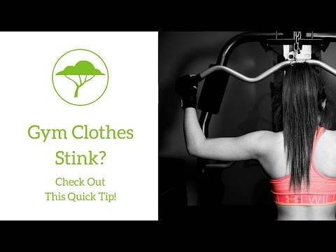 Gym Clothes Stink? Check out this quick tip!