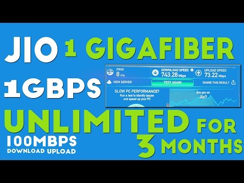Reliance Jio GigaFiber with Free Unlimited 1 Gbps Connection for 3 Months