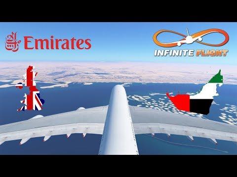 [SINGLE-SHOT] Infinite Flight GLOBAL: Manchester MAN To Dubai DXB | Emirates A380 | TIMELAPSE