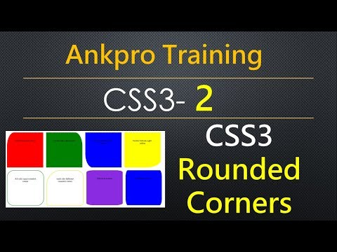 CSS3 2 - Rounded Corners | Border-radius property | Border radius for divs and other html elements