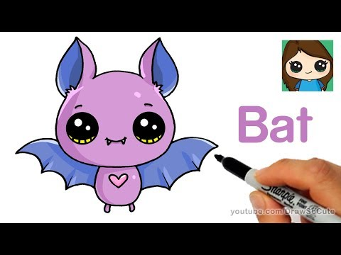 How to Draw a Cute Bat Easy