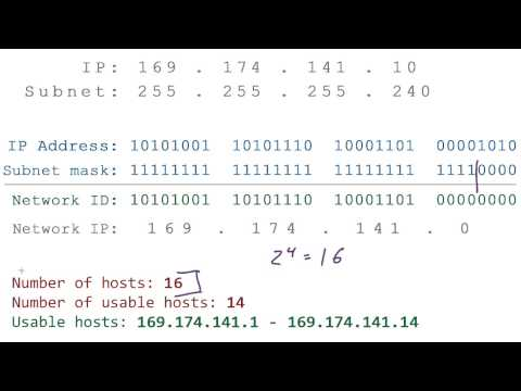 Computer Networking Tutorial - 26 - Network IP Address