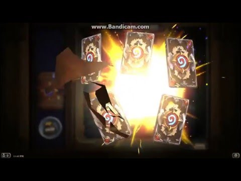 Hearthstone Opening 82 Card Packs very luck legendary gold cards
