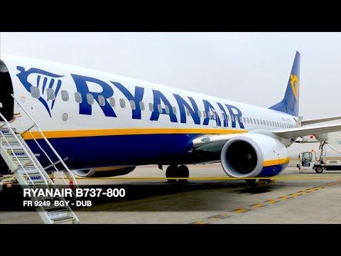 TRIP REPORT | Ryanair B737-800 Sky Interior | Milan Bergamo BGY ✈ Dublin