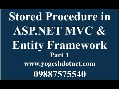 Entity Framework CRUD using Stored Procedure in asp net mvc | Hindi