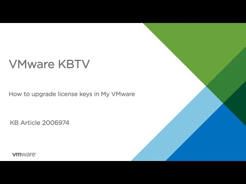 How to upgrade license keys in My VMware
