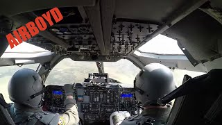 B-1 Bomber July 4th Flyover Cockpit Footage