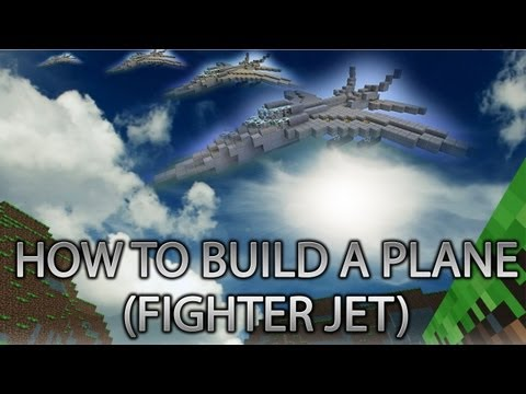 Minecraft Xbox 360: How to Build a PLANE (Fighter Jet) cRz Build Team