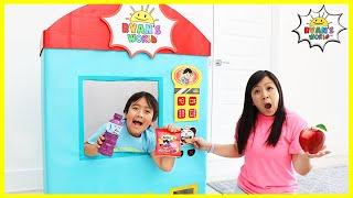 Ryan Vending Machine Kids Toy Story Pretend Play!!!!