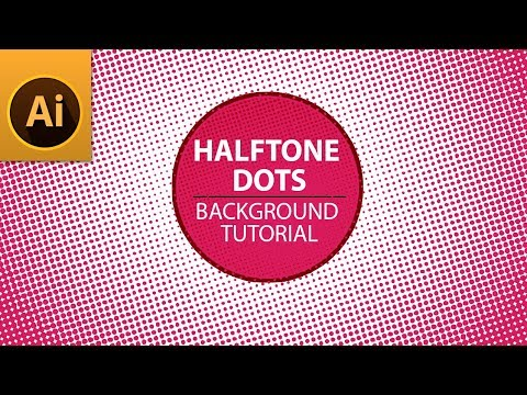 Modern Halftone Dots Background Tutorial in Illustrator