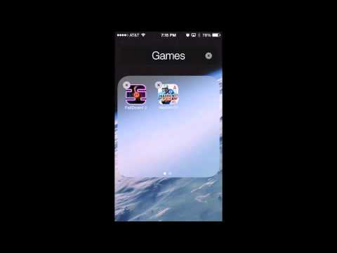 How to put a Folder in a Folder! (Any Apple Device-IOS 7)
