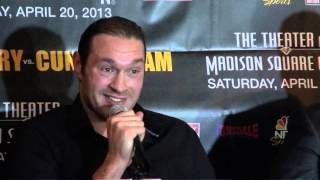 "Heated Exchange -  Tyson Fury vs. Steve ""USS"" Cunningham Press Conference"