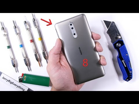 Nokia 8 Durability Test - Scratch, BURN and Bend Tested!