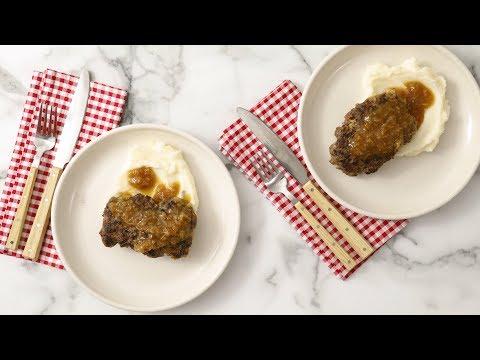 Salisbury Steak with Onion Gravy- Martha Stewart