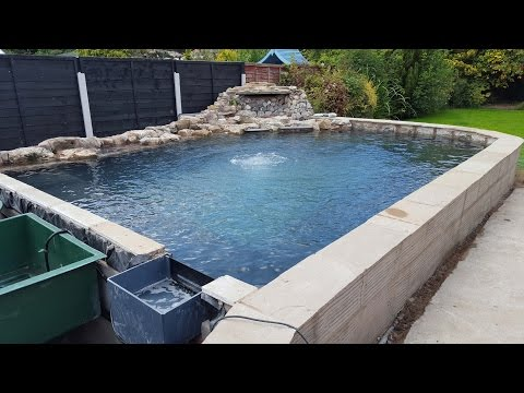 Raised Koi pond build 2015.  Water Finally In !
