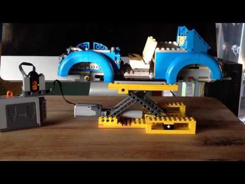 Super simple Lego Technic Scissor Car Lift w/ Power Functions