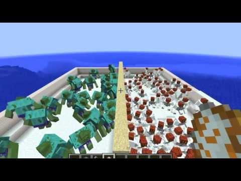 Minecraft: MUTANT SNOW GOLEM VS MUTANT ZOMBIE!!