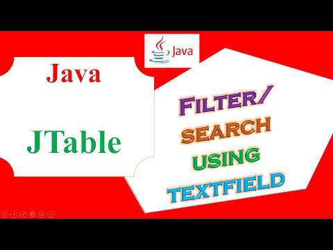 Java JTable Ep.17 -  Filter/Search Using JTextField
