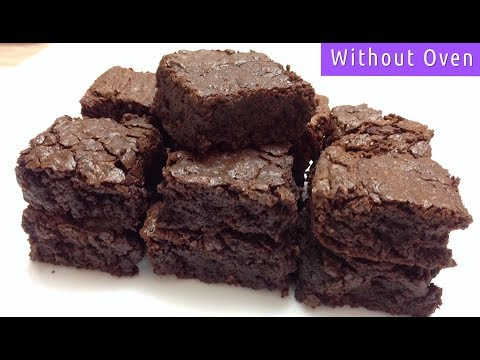 Mocha Brownie Without Oven | Fudge Brownie Recipe in Vessel