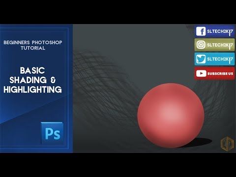 Photoshop Beginners Tutorial : Basic Shading And Highlighting