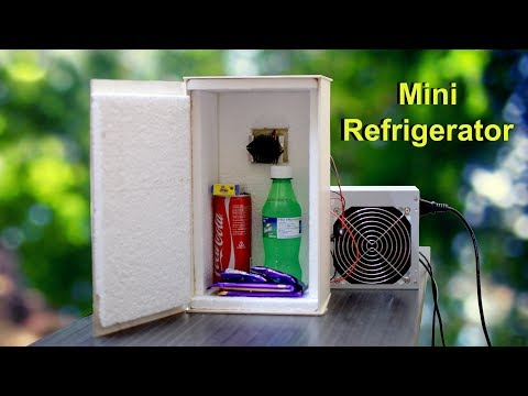 How to make a Mini Refrigerator at Home – Low cost Fridge. Peltier: Pelush B