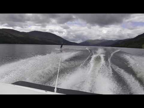 Maz skiing Lochearn the best she has ever done on 1st August 2016