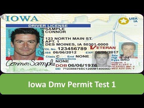 Iowa DMV Permit Test 1