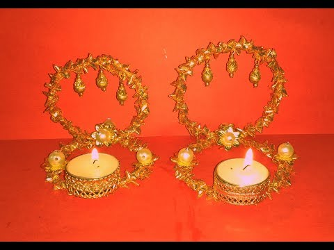 Diy How to make Beautiful Festive Candle Tealight Holder / Votive at home