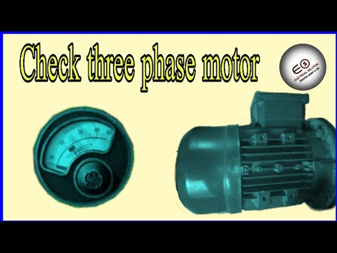 How to check three phase motor with a multimeter