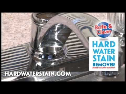 Best hard water stain remover for stainless steel sinks and chrome fixtures