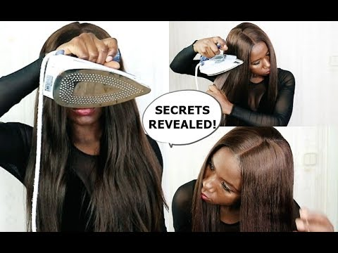 HOW TO : Flat iron your wig with an IRON -SECRETS REVEALED!
