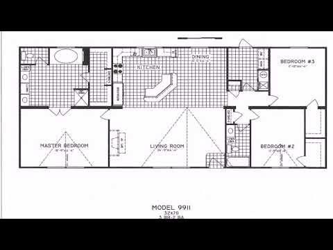 3 Bedroom 2 Bath Mobile Home Floor Plans