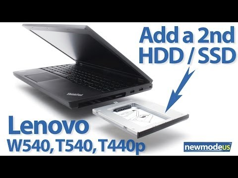 Replace optical drive with SSD or HDD on Lenovo ThinkPad T440p, T540, W540, W541