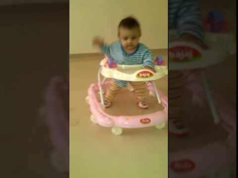 7 MONTH BABY WALKING ON WALKER