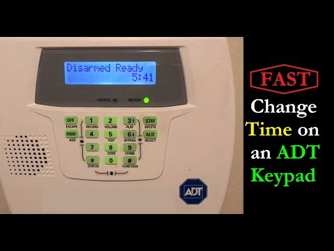 FAST -  How to Change the Time on an ADT Keypad