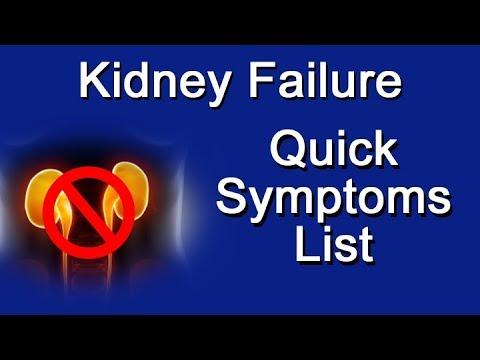 Kidney Failure Quick Symptoms List