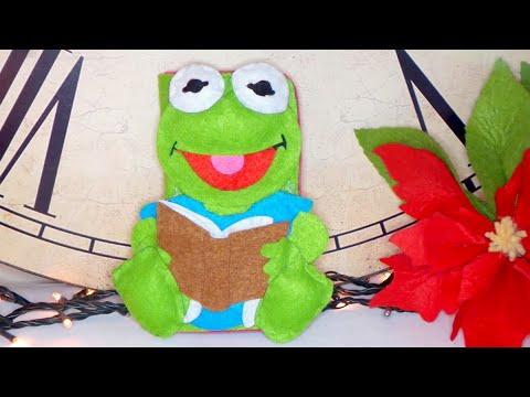 DIY Crafts: Kermit the frog felt mobile case - handmade - Youtube - Isa ❤️