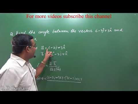 Angle between two vectors Ch10 Ex10 3 Q2 NCERT Class 12 Maths CBSE RBSE R B Classes