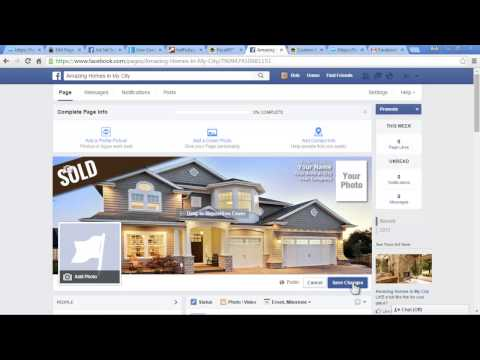 How to Upload Facebook Page Cover Photo and Profile Image